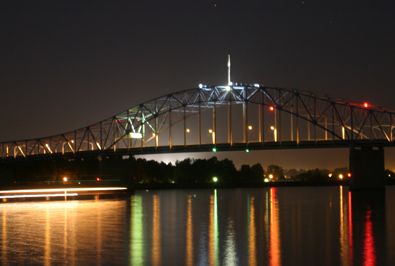 Bridge at night, Richland, WA
